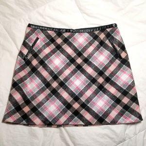 Oasis A-Line Pink Check Skirt